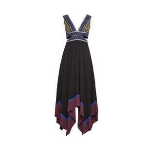 BCBG Maxazaria Embroidered Handkerchief Dress